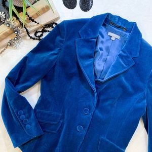 Blue Velvet Ann Taylor Blazer Jacket